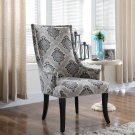 606 – Adelmo Natural with Floral Pattern Living Room Accent Chair