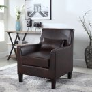 614 – Cassidy Upholstered Living Room Accent Arm Chair (Espresso)