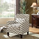 614 – Cassidy Upholstered Living Room Accent Arm Chair (Grey/White)