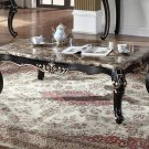 1615-Jane Austen Antique Black with Gold Trimming Coffee Table