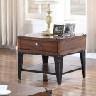 DX600 – Carly Walnut with Black Iron Nail Heads Living Room End Table