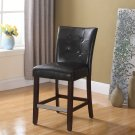 611 – Kitchen Faux Leather Counter Height Chair (Espresso)