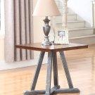 DX500 – Durham Walnut w/ Brushed Grey Iron End Table