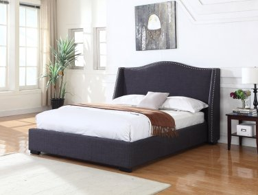 386 Platform Bed California King (Charcoal)