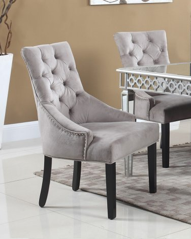 T1805 � Jameson Suede 2 Pcs Dining Accent Chairs (Otter)