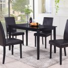 WA1200 – Megan 5 Pcs Contemporary Dinette Set (Black/ Brown)