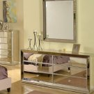 T1803 – Jameson Silver Mirrored Bedroom Dresser & Mirror