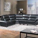 6066, Westwood 3 Pcs Black Living Room Sectional