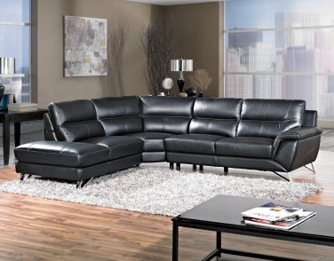6066, Westwood 3 Pcs Black Living Room Sectional