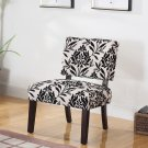Y802, Willow Black Floral Upholstered Living Room Accent Chair