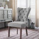 Y780, Julia Light Gray Velvet Dining Side Chairs ( Set of 2)