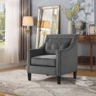ZH119, Edinburgh Suede Living Room Arm Accent Chair  Grey