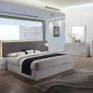 Naple, Silver Line 5 Pcs Modern Platform Bedroom Set (Queen)