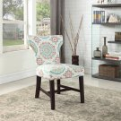 623, Belle Upholstered Fabric Accent Chair (Floral)