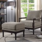 HL31, West Palm 2 Pcs Living Room Accent Chair with Ottoman