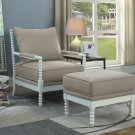 HL32, West Palm 2 Pcs Living Room Accent Chair with Ottoman