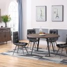 DX1720, Denver Industrial Antique Brown 5 Pcs Round Dinette Set