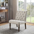 YF06, Fremont Upholstered Tufted Armless Accent Chair (Beige)
