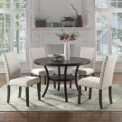 HX001, Darlington Antique Black 5 Pcs Round Dinette Set