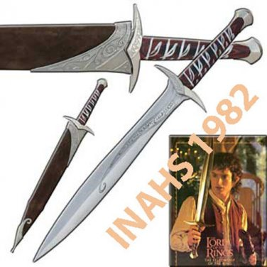 2 PCS - LOTR Sting Sword With Scabbard & Stand