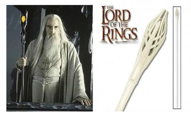 Staff of gandalf white & Staff of Saruman Black From LOTR