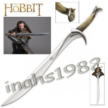 Hobbit Orcrist - Sword of Thorin Oakenshield With Wall Plaque