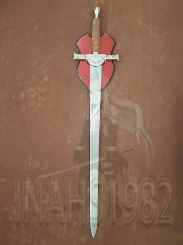 Highlander Clan Macleod Sword With Wall Plaque