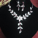 wedding jewelry bridal accessories floral design necklace set N5315p