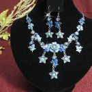 wedding jewelry bridal accessories alloy floral necklace set N577b