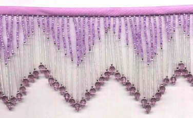 "Beaded fringe 38"" width Super long bugle and beads f100dpu * free shipping"