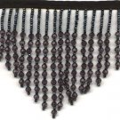 "Beaded fringe 38"" width scallop or wave glass beads or acrylic  f019bk *free shipping"