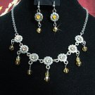 wedding jewelry bridal accessories alloy floral necklace set KC586y *FREE SHIPPING