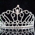 HUGE wedding tiara bride bridesmaid accessories crystal regal imperial comb 001S