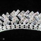 Bride bridesmaid wedding tiara accessories ice sparkle bugle crystal regal imperial comb 1561S