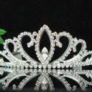 wedding tiara bridal accessories,silver crystal headpiece,swarovski regal imperial comb 7500S