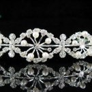 wedding tiara bridal accessories ,silver crystal headband ,regal imperial comb JCN058