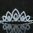 Bridal accessories wedding hair tiara crystal ,swarovski blue headpiece regal imperial comb cn76
