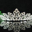 Bridal accessories wedding tiara crystal alloy headpiece,silver handmade regal imperial comb TT28