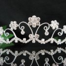 Bridal accessories wedding hair tiara crystal filigree headpiece,silver regal imperial comb SJ541S