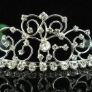 Bridal accessories wedding tiara handmade crystal headpiece,silver filigree imperial comb T7104