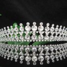 Bridal handmade accessories wedding hair tiara crystal sparkle headpiece regal imperial comb S2033S