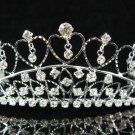 Bridal accessories wedding tiara,sweetheart silver crystal headpiece regal imperial comb SJ0770S