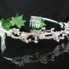 Bridal accessories wedding hair tiara crystal handmade floral headband ,regal imperial comb SJ0618