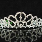 Bridal accessories wedding hair tiara handmade silver crystal headpiece regal imperial comb SJ0570