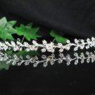 Bridal accessories wedding hair tiara handmade alloy silver crystal regal SJ0495
