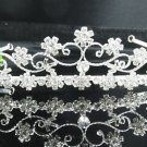 Bridal accessories; wedding hair tiara ;handmade silver crystal headpiece imperial; comb 7275