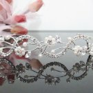 Bridal accessories; wedding hair tiara ;handmade silver pearl crystal headband 4814