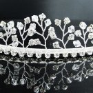 Bridal accessories; wedding hair tiara,handmade silver crystal pearl headpiece imperial; comb 8642