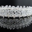 Bridal accessories; wedding hair tiara ;handmade crystal headpiece imperial headband 8719