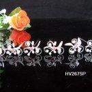 6 pc handmade Wedding accessories;bridal tiara veil bridesmaid silver alloy floral hairpin 2675p
